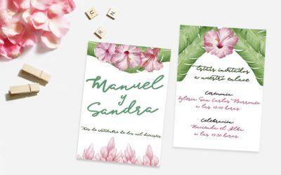 Invitaciones de boda con motivos florales: Oda a la primavera