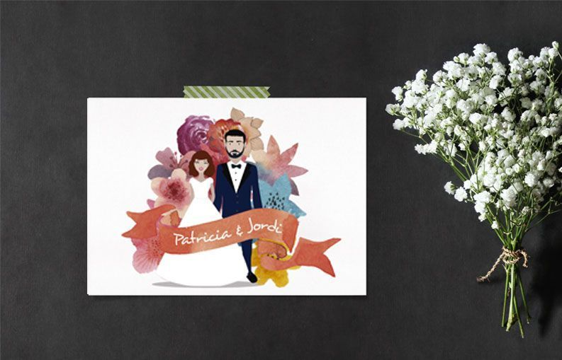 Invitaciones de boda Pixel and Love