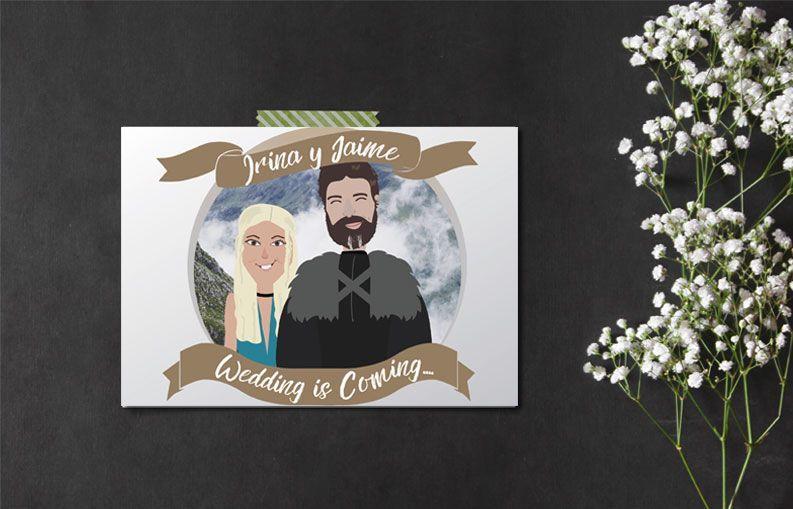 Invitacion de boda personalizada Juego de tronos