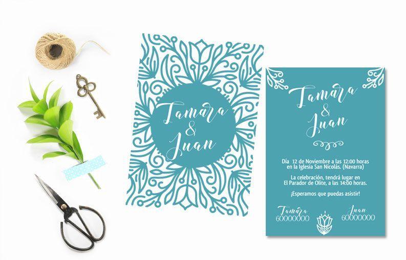 Invitaciones de boda Tulipanes