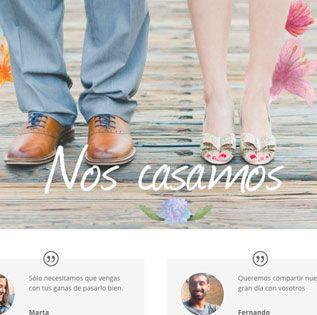 Páginas web de boda gratis