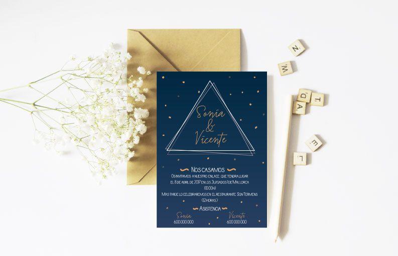 Invitaciones de boda baratas