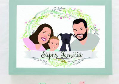 ilustracion-personalizada-familia-y-mascota-pixel-and-love