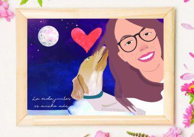 lamina-personalizada-chica-con-perro-pixel-and-love