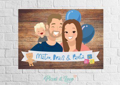 ilustracion-personalizada-niño-y-papas-modelo-happy-pixel-and-love
