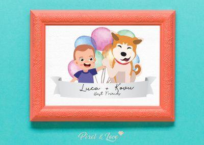 ilustracion-personalizada-niño-y-perro-modelo-happy-pixel-and-love